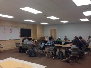 Vanguards meet in Hillside to discuss committees.